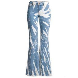 Alice + Olivia Tye Dye Flared Jeans